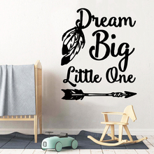 Diy dream big Removable Pvc Wall Stickers For Home Decor Living Room Bedroom Party Wallpaper
