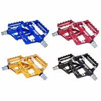 4 Colors Platform Alloy Road Bike Pedals Ultralight MTB Bearing Bicycle Pedal Bike Parts Accessories