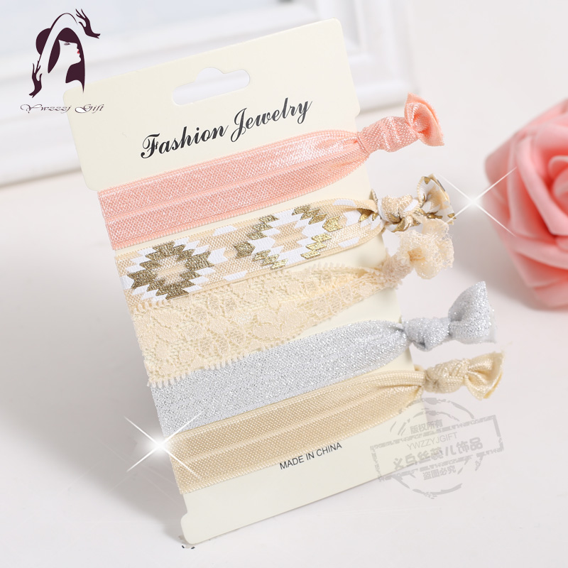 Yiwu Retail Pattern Elastic Hair Tips Accessories Women Fabric Hand Band Gi..