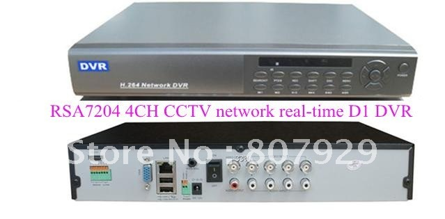 wholesale-4 CH H.264 real-time D1 high compression network CCTV DVR,RJ-45 port(10/100M),Support IR,3G and WIFI