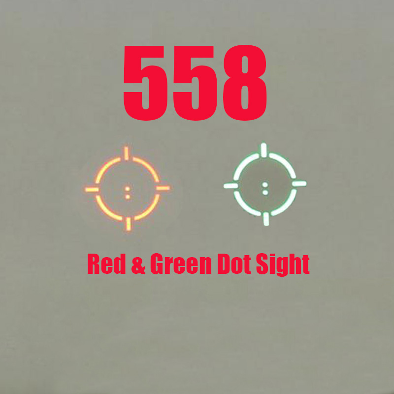 NEW 558 Holographic Red Green Dot Sight Tactical Rifle Scope Optic Sight Reflex Sight With 20mm