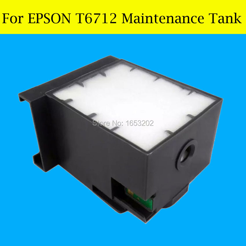 1 Piece Maintenance Tank Box For Epson T6712 6712 Waste Ink Tank new maintenance box with chip for epson t6712 waste ink tank for epson workforce wp 8010 wp8090 wp8510 wp8590 printers