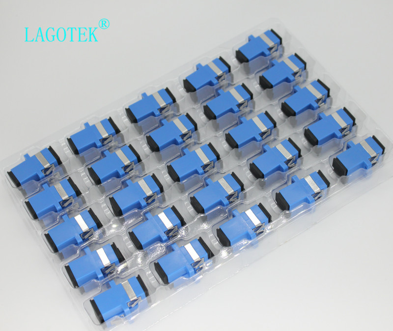 Image 5 - 50/100/200/500pcs  SC UPC Simplex Single mode Fiber optic Adapter SC Optical fiber coupler SC UPC Fiber flange SC connector-in Fiber Optic Equipments from Cellphones & Telecommunications