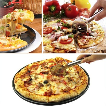 1pcs Round Pizza Cutter Stainless Steel Handle Pizza Knife Cutter Pastry Pasta Dough kitchen Baking Tools нож для пиццы