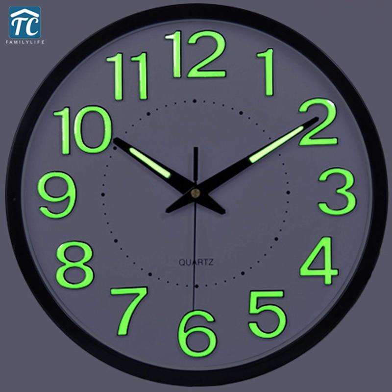 2017 Promotion Luminova Modern Minimalist Wall Clock Mute Large Living Room Creative Quartz Wall Clock
