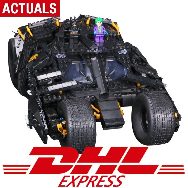 DHL super heroes series Il Tumbler Blocchi di Costruzione di modello set compatibile Legoing 76023 Classic car-styling giocattolo per i bambini
