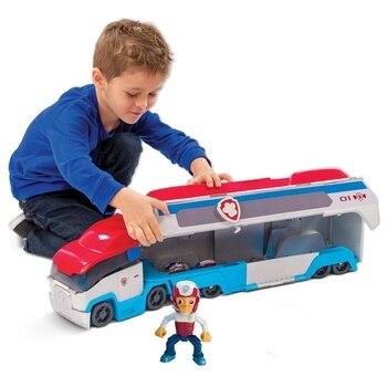 발 순찰 개 순찰 자동차 모바일 구조 큰 버스 강아지 순찰 발 순찰 변형 어린이 장난감 크리스마스 선물