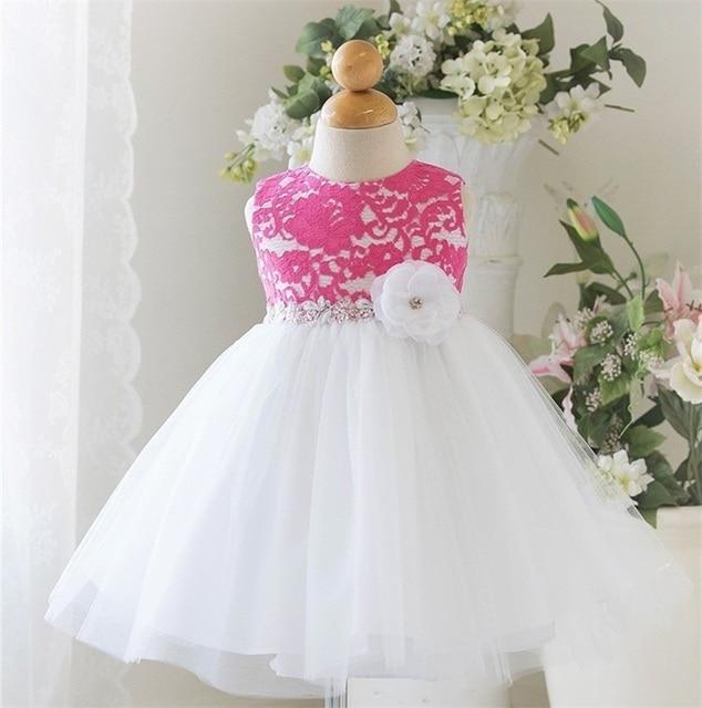 Princesa niños niña vestido de fiesta de encaje hermosa ganchillo ...