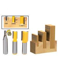3pcs Set Undersize Plywood Dado Router Bit Set 1 4 Shank Tenon Milling Tool Z