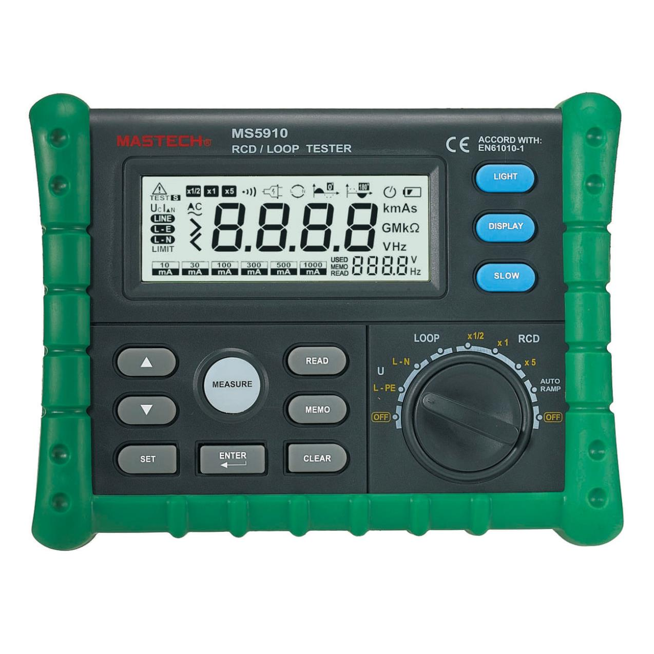 Mastech Ms5910 Rcd Loop Resistance Tester Circuit Trip Out Current Esting For In A Time Detector With Usb Interface Breaker Finders From Tools On