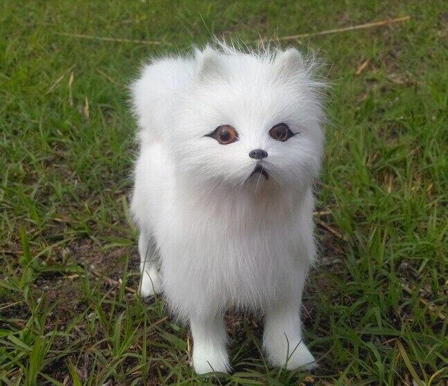 하나의 작은 귀여운 강아지 장난감 정품 가죽 직물 Samoyed 장난감 시뮬레이션 강아지 장난감 약 17 * 15 * 6cm 1085