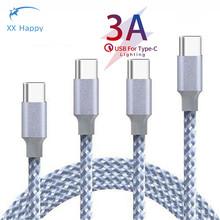 XX Happy USB Type C to USB C Cable for Samsung S9 for Oneplus 7 Pro Quick Charge 4.0 USBC Fast Charging USB-C Type-C Cable