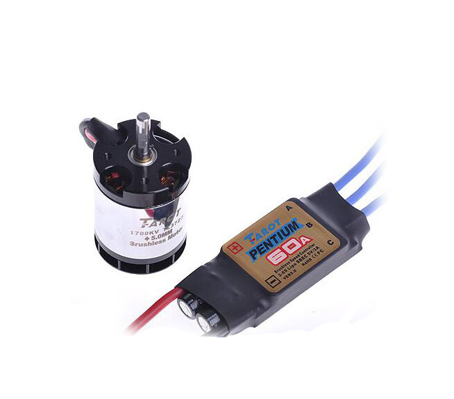 Free Shipping Taort 60A ESC + 1700KV 500 Motor TL3723 for Tarot 500 Helicopter tarot 500 dfc main shaft 500 helicopter parts for t rex 500 tl50086