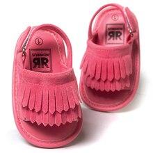 ROMIRUS Baby Shoes Сандалии Повседневная Мода PU Кисточкой Сандалии Для Детей дети Девочки Мальчики-Красный