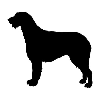 14.2*12.7CM Irish Wolfhound Dog Car Stickers Silhouette Vinyl Decal Car Styling Truck Accessories Black/Silver S1-0737 image