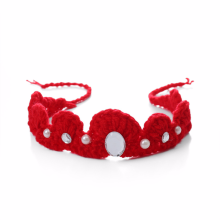 купить Knitting Crown Newborn baby Photography Accessories Infant Crochet Headband for Photo Shoot Props New Handmade в интернет-магазине