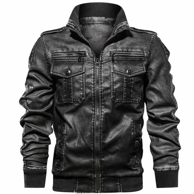 Новая мужская Военная куртка повседневная армейская фитнес Меховая куртка-бомбер анти-кожа европейский размер мужская кожаная куртка дропшиппинг