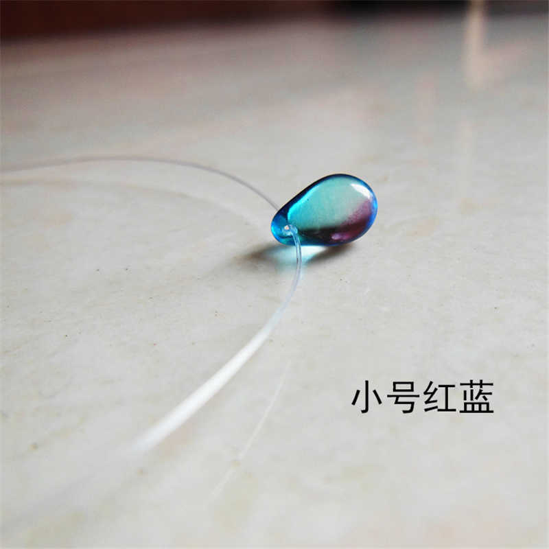 Invisible Line Color Crystal Glass 6 * 9mm Pendant Necklace for Women Ker Necklace Charm Jewelry Accessories Gift N653-N658