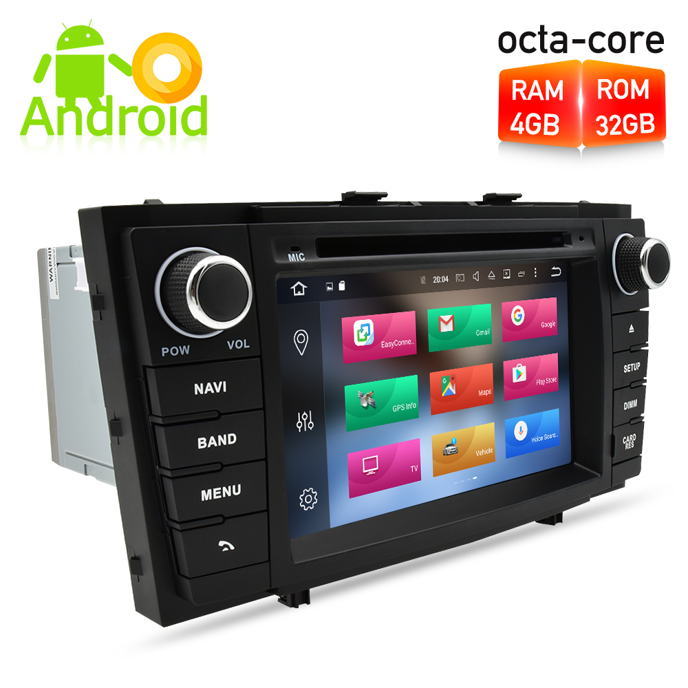 <font><b>Android</b></font> 9.0 Car Radio DVD GPS Navigation Multimedia Player For <font><b>Toyota</b></font> Avensis <font><b>T27</b></font> 2009-2015 Auto Audio WIFI Stereo Headunit image