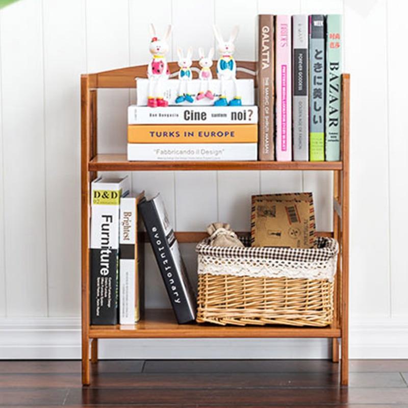 70CM Long DIY Student Desk Bookcase Bookshelf Bamboo Wood Desktop Multi-function Wooden Self Storage Holder Home/Office Decor 5d diy 70 55