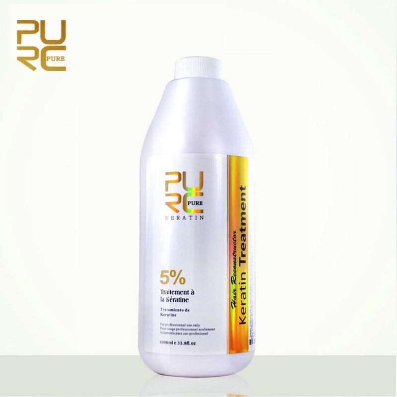 PURC 5 Formalin Brazilian Keratin Hair Straightener Repair Damaged Hair Moisturizing Anti split Deep Cleaning Hair
