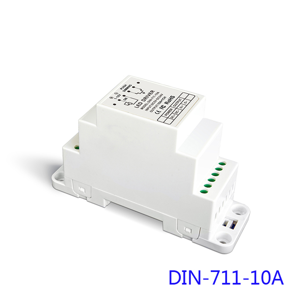 ltech din 711 10a 0  1 10v cv led dimming driver din rail