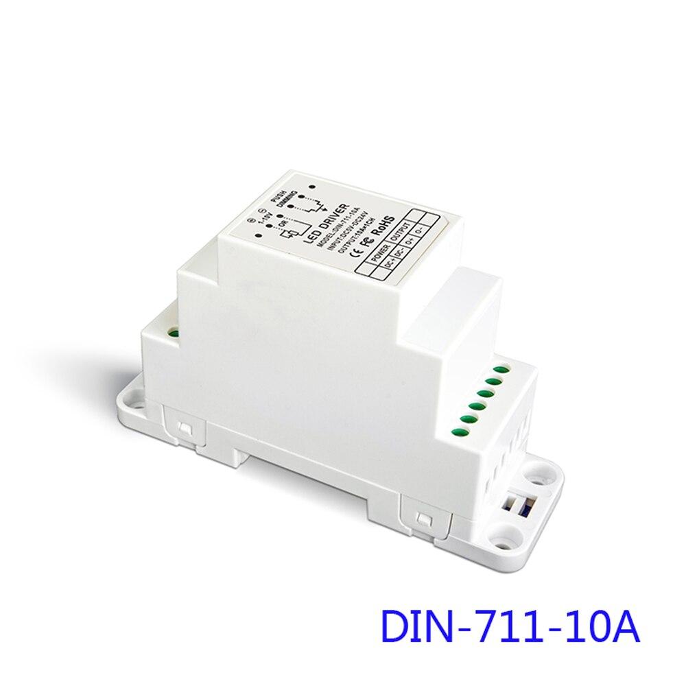 LTECH DIN-711-10A 0/1-10 V CV LED gradation pilote Rail DIN, vis double usage