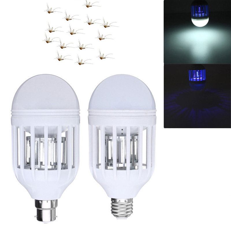 LED Bug Zapper Light Bulb 15W Mosquito Killer Bulb B22/E27 Wasp Bug Mosquito Flying Insects LED UV Lamp e27 15w 2u uv curing light sterilization disinfection mosquito killer light bulb 220v