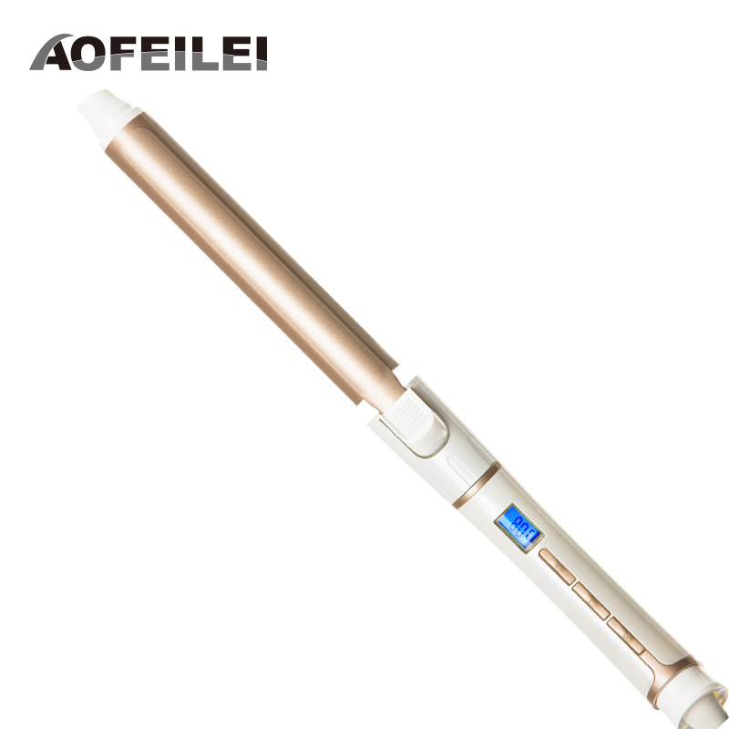 AOFEILEI Professional Perfect Ceramic Electric Hair Waves Curling Iron Digital Hair Curler Roller Wand Styler Styling