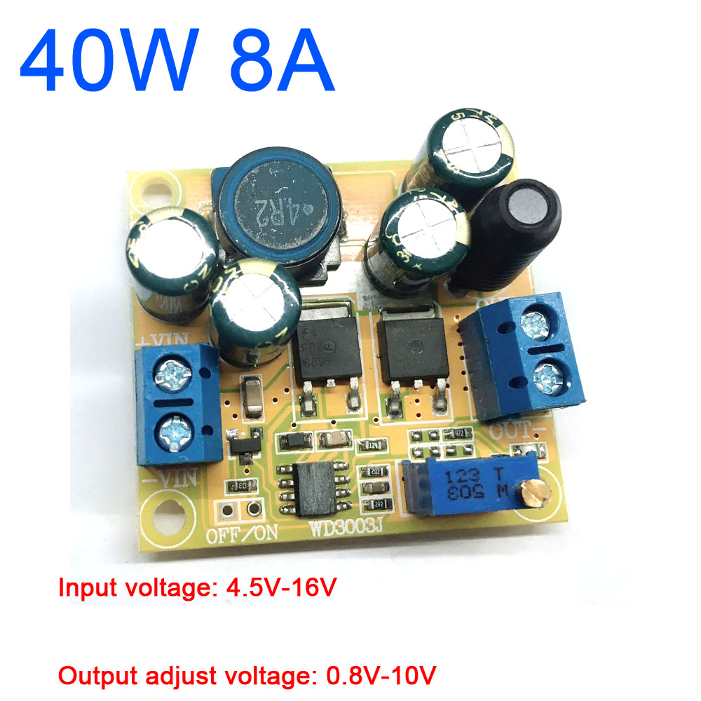 40W 8A DC-DC Buck Step-down Converter Adjustable Power Module 3.3V 3V 5V 9V 12V 4.5V-16V to 0.8V-10V voltage regulator CAR 40W 8A DC-DC Buck Step-down Converter Adjustable Power Module 3.3V 3V 5V 9V 12V 4.5V-16V to 0.8V-10V voltage regulator CAR