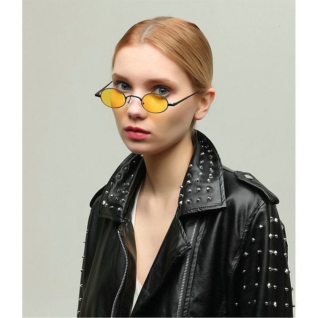 85508c43ff MINCL 2018 Hot Sale Fashion Vintage Small Oval Sunglasses Unisex Chic Sexy  Luxury Brand Designer