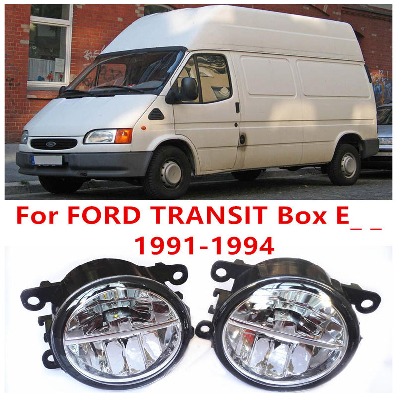 For FORD TRANSIT Box E_ _ 1991-1994 Fog Lamps LED Car Styling 10W Yellow White 2016 new lights for ford fiesta van box 2009 2015 fog lamps led car styling 10w yellow white 2016 new lights