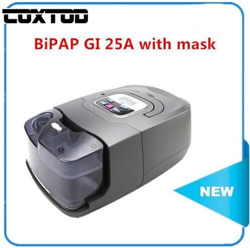 COXTOD Portable BPAP Ventilator Respiratory Machine BPAP for Sleep Apnea with cpap Mask and Headgear 25A GI