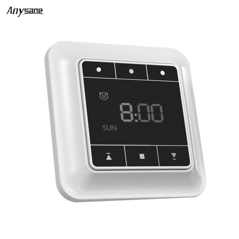 ANYSANE Wireless LCD Timer Receiver Switch Automation Module Wireless Switch Remote Control Door Curtain Opener Smart