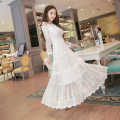 2017 lace white summer dress fora do ombro ucrânia dress sexy moda longo dress mulheres vestidos