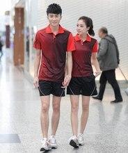 Table tennis Jerseys sportswear men font b women b font sportswear shirt Couple table tennis Jerseys