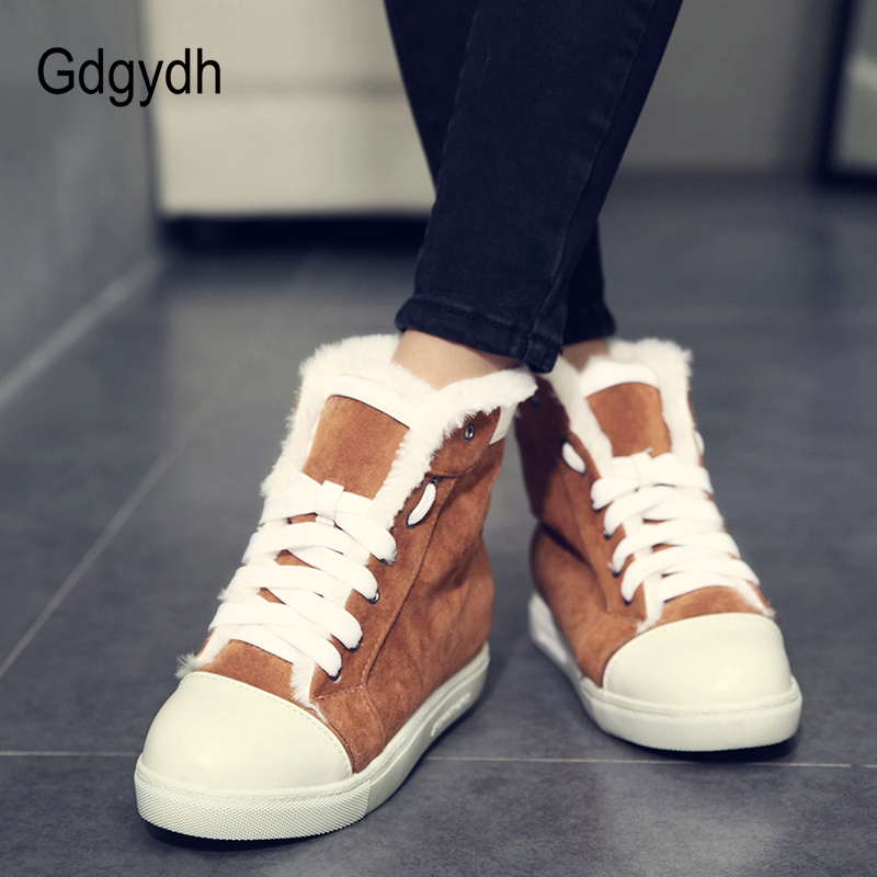 19177405eaef Gdgydh New Arrival Women Female Wedges Ankle Boots Winter Shoes Platform  Warm Snow Boots Comfortable Ladies Casual Shoes 2018