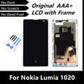 100% testado boa LCD Original substituição para Nokia Lumia 1020 LCD Display Touch Screen digitador assembléia com Frame