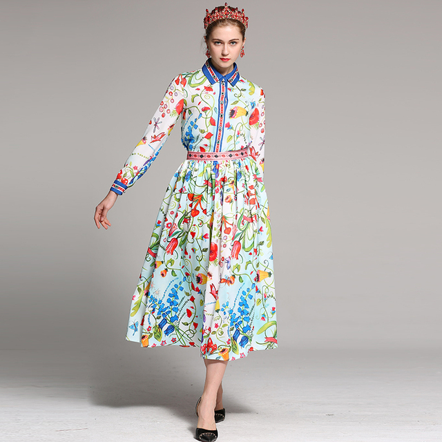 960548c2008 US $75.99 |OLN New 2018 Spring Women Shirt Skirts Suits Runway Beading  Fashion Designer Dress Sets Two Pieces Europe Vestidos Suits Blouse-in  Women's ...