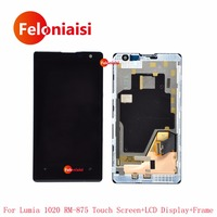 4 5 For Nokia Lumia 1020 RM 875 Full Lcd Display With Touch Screen Digitizer Sensor