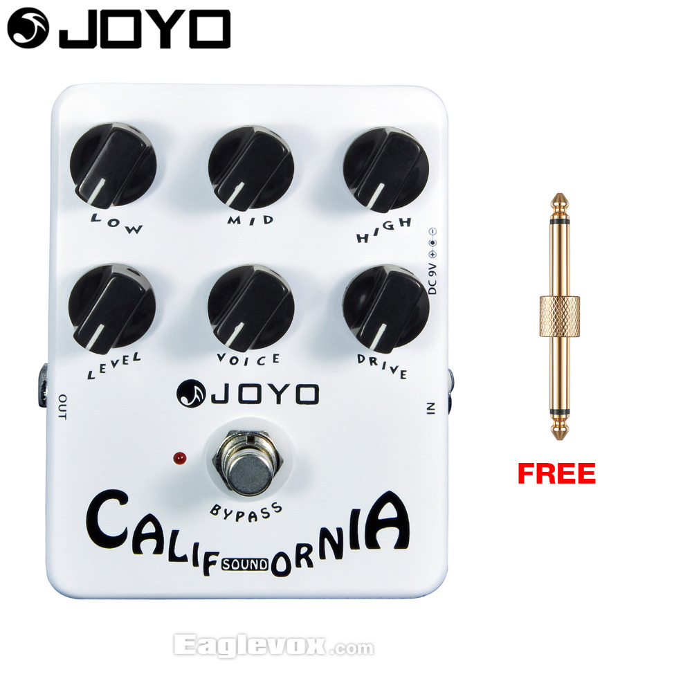 JOYO California Sound Distortion Electric Guitar Effect Pedal Bypass JF-15 with Free Connector mooer ensemble queen bass chorus effect pedal mini guitar effects true bypass with free connector and footswitch topper