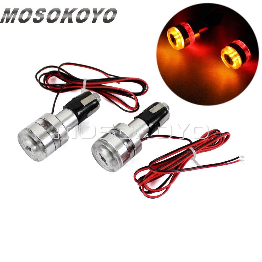 2 Pcs 12V LED Blinker 7/8