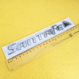 SANTAFE ПВХ ABS пластик хром задний номер багажника/Знак логотипа эмблемы наклейки для автомобиля Стайлинг авто аксессуары боковая наклейка