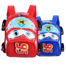 2019 Cartoon Car Backpack Children School Bags kids Book Bag