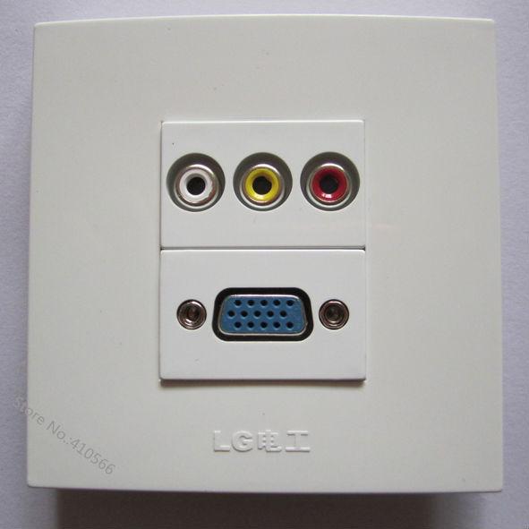 Neue Ankunft Einfach Mit Steckdose Panel Mit RCA AV + VGA PC Für ...