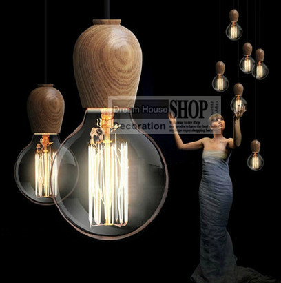 6-8-10-12-14 arm wood socket E26/E27 110V/220V edison chandelier industrial home art decoration lighting