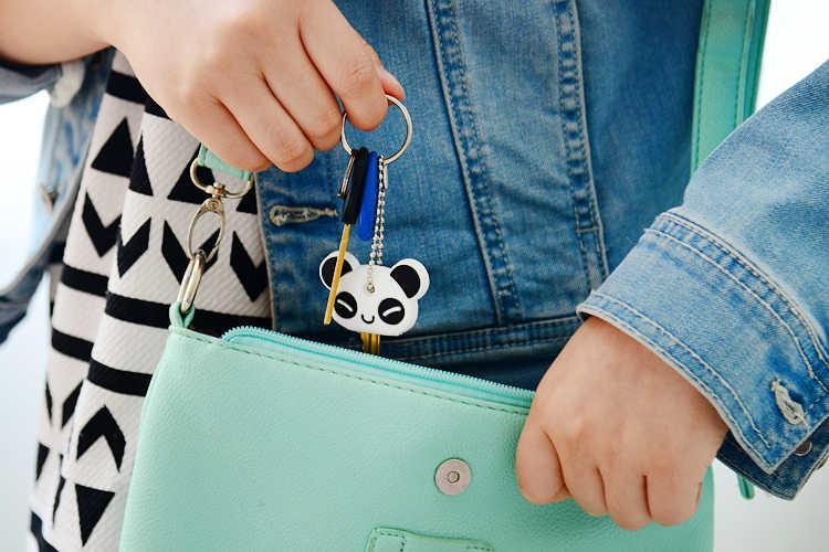 Hoạt Hình Anime Dễ Thương Chìa Khóa Nắp Silicon Mickey Gấu Stitch Móc Khóa Nữ Tặng Cú Porte Clef Minne Móc Chìa Khóa