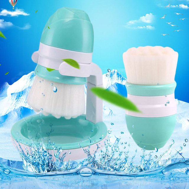 US $6.79 23% OFF|3 Colors Soft Hair Facial Cleansing Brush Cute Mini Fiber  Hair Deep Cleanser Skin Care Clean Brush with Bracket Facial Care Tool-in  ...