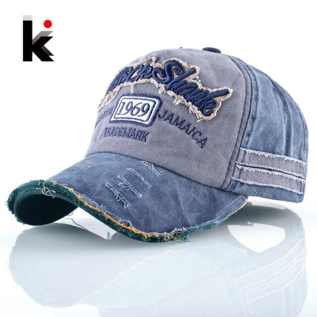 Spring Summer Baseball Cap Women Worn Washed Denim Hip Hop Hats For Men  Letters Embroidery Drake 16f579a1547b
