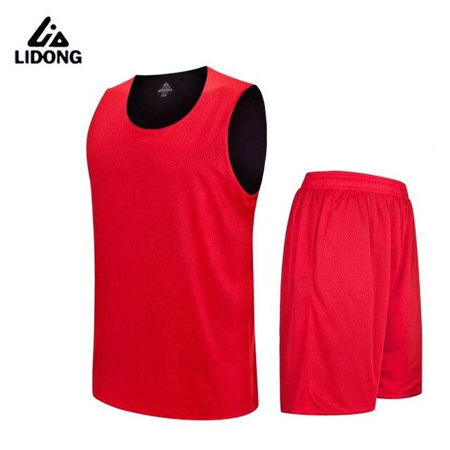 f2f22f2e24 2018 Crianças Meninos Camisa De Basquete Reversível Definir Uniformes kits  Esportivos roupas Double-side de